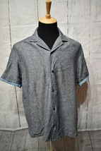 Tommy Hilfiger Men's Button Front Closure Short Sleeve T-Shirt Size L Gray - $21.03