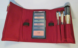 Elizabeth Arden Red Shiny Patent Faux Leather Cosmetic Wallet Eyeshadow ... - $18.80