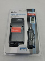 Vivitar Rapid Travel Charger Qc-207 Canon LP-E6 New with euro adapter - $9.99