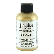 Angelus Leather Paint Pearlescent 18K Gold, 4 ounce jar (733-01-455) - $9.42