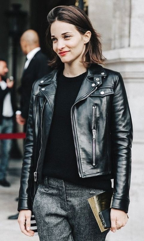 WOMEN BIKER MOTORCYCLE CASUAL SLIM FIT RIDER REAL GENUINE  LEATHER JACKET-A08