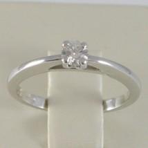 WHITE GOLD RING 750 18K, SOLITAIRE, BEZEL SETTING RAISED, DIAMOND CARAT 0.20 image 1