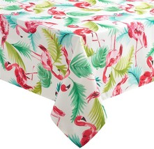 FLAMINGOS Fabric In / Outdoor Water Repellent Stain Resist 60x120 Tablec... - $39.99