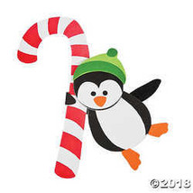 Candy Cane Penguin Doorknob Hanger Christmas Craft Kit  - $19.23