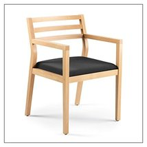 Steelcase Sawyer Wood Guest Chair by Steelcase, Fabric = Black; Finish = Clear M - $403.00
