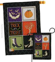 Trick or Treat Collage - Impressions Decorative Flags Set S112074-BO - $57.97