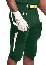 New - Under Armour Men's Size Small Green White Football Pants $69.99 NWT - $10.88