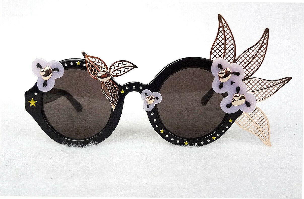 AV Robertson Women's Sunglasses AVR/1/4 Fancy Floral Black 140 JAPAN - New!