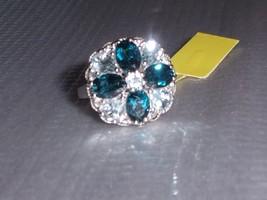 LONDON BLUE TOPAZ OVAL, SKY BLUE PEAR & W TOPAZ COCKTAIL RING, SIZE 7, 6.13(TCW) - $89.99
