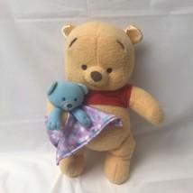Fisher Price Winnie The Pooh Lovey Rattle Plush 2004 Baby Nursery Disney - $17.81