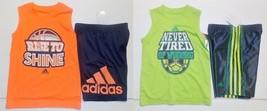 Adidas Boys 2pc Shorts and Muscle Man Shirts Sizes 4  NWT - $16.24