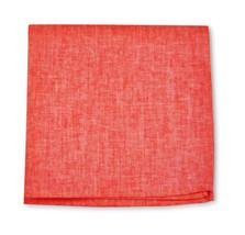 Frederick Thomas ROSSO CORALLO tinta unita Lino Fazzoletto quadrato da taschino