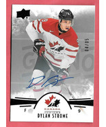2016-17 Dylan Strome Upper Deck Team Canada Juniors Black Auto 04/05 - C... - $47.49