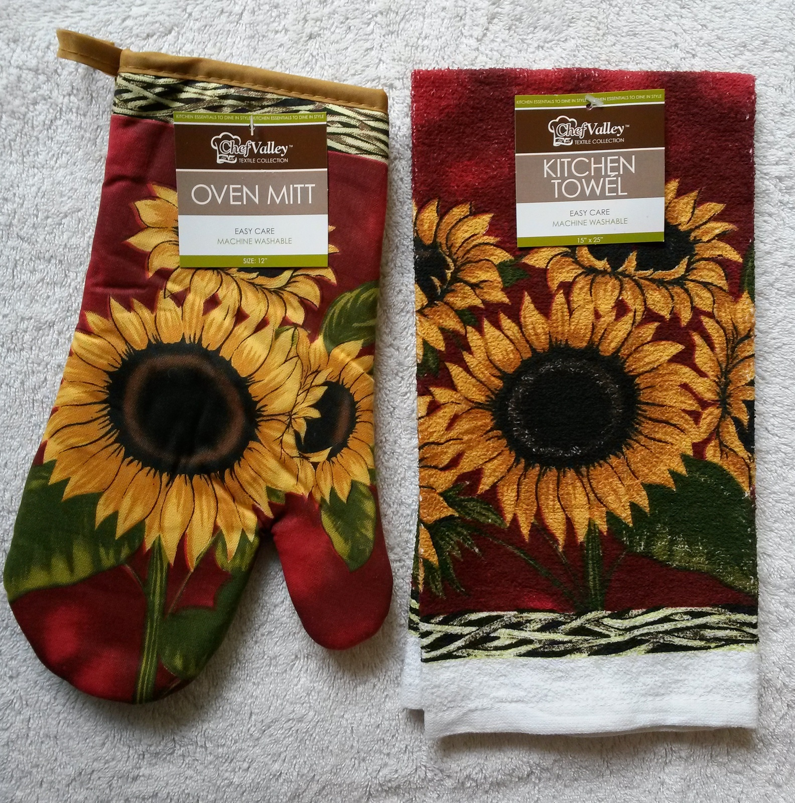 Sunflower Yellow Kitchen: Sunflower Kitchen Set 5pc Towels Oven Mitt And 27 Similar