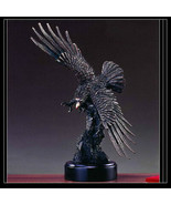 EAGLE Bronze Sculpture Statue Large Home Decor Desk Designer Resin Flyin... - $93.06