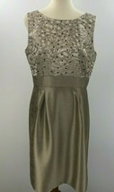 Tahari ASL Shift Dress Womens 12 Sequinned Gray Sleeveless Cocktail Flaw... - $19.28