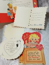 5 Old Vintage Be My Valentine Cards - Great Asst And Color, Check Out The Photos image 5