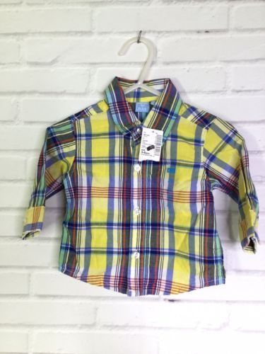 Primary image for The Childrens Place Plaid Button Up Front Shirt Infant Baby Boy Size 3-6 Months