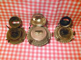 VINTAGE Lot Of 3 BANNER Kerosene Lamp Hurricane Brass Burners Railroad L... - $29.99
