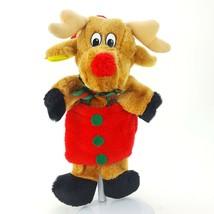 "Vintage Santa's Best Reindeer 13"" Plush Stuffed Puppet Stocking Kids Chr... - $24.18"