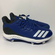 Adidas Womens Icon Bounce Softball Cleats Blue Lace Up Low Top CG5187 Size 7.5 - $29.69