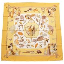 "Hermes Scarf Ombrelles Et Paraplutes Silk 90 Cm Carre 35"" Umbrella Yellow - $252.99"