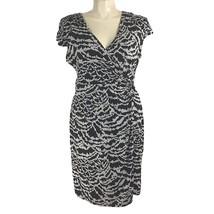 Alfani XL Wrap Dress Beige Black Splotchy Stripe Buckle Jersey Knit Cap ... - $25.11