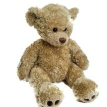 """Build A Bear Shaggy Teddy Bear 17"""" Honey Brown Plush """"Freedom"""" George Mi... - $20.40"""