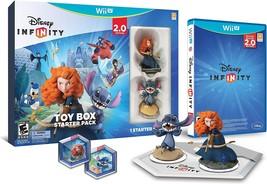 Disney Infinity 2.0 Toy Box Starter Pack Nintendo Wii U With Merida & Stitch - $10.12