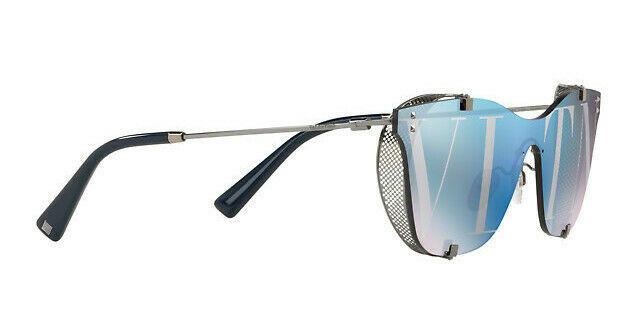 Valentino Women's VA2016 3005V2 Silver Purple Shield Metal Sunglasses 39mm