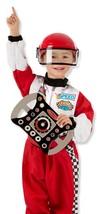 Melissa & Doug Race Car Driver Role Play Costume Set (3 pcs) - Jumpsuit,... - $29.69