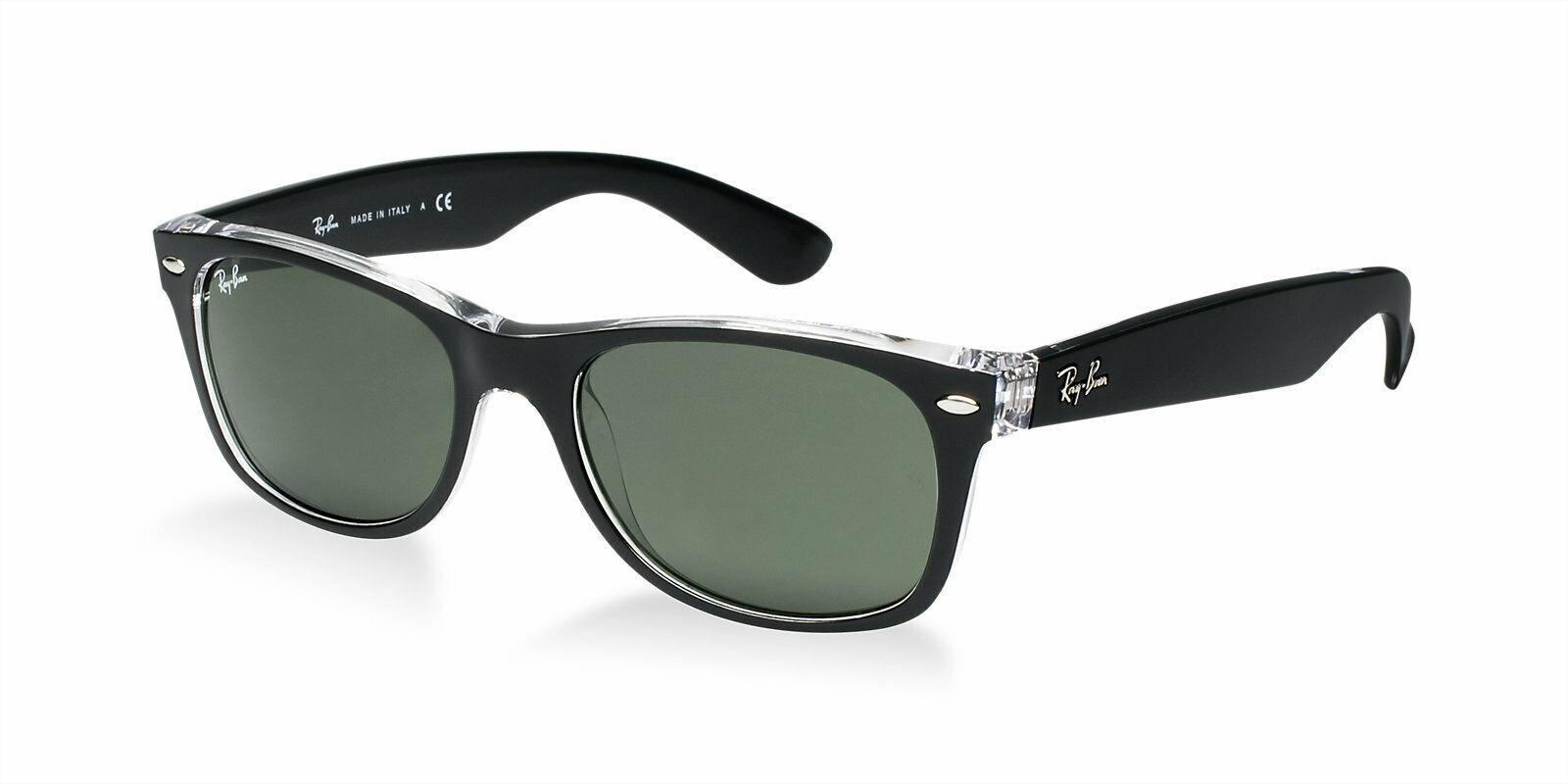 Ray-ban RB2132 605258 Schwarz/Klar Rahmen Polarisiert Grün Linse Sonnenbrille