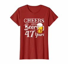 Brother Shirts - Cheers And Beers 47 Years Old 47th Birthday Gift 1971 S... - $19.95+