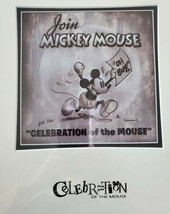 """NWT Disney Art """"Celebration Of The Mouse"""" By Noah Deluxe Matted Print 11... - $39.59"""