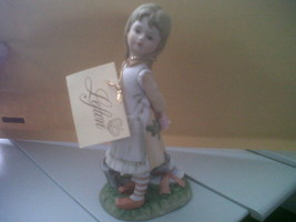 Lefton Girl With Dog And Hat Number 2350 5 And 1/2 Inches Tall - $10.77
