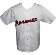 Joe Bauman Roswell Rockets Baseball Jersey Button Down White Any Size image 3