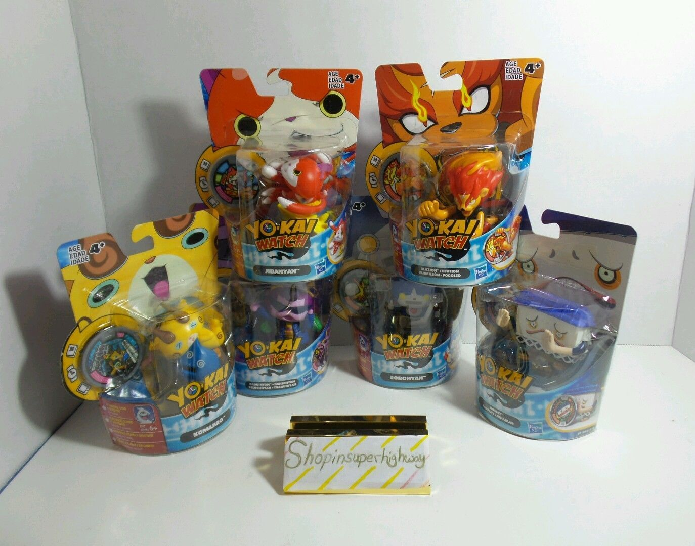 HASBRO YO-KAI WATCH COLLECTIBLE TOY SET OF 6 RED YELLOW PURPLE BLUE ORANGE