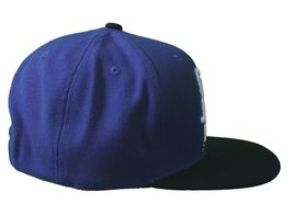 Kr3w Skateboarding Royal Blue Black Mark Starter Snapback Baseball Hat Cap NWT image 3