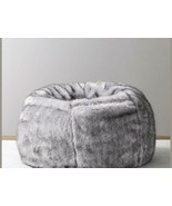 Leather Fur U and I Design Bean Bag and Cover, XXXL/9mm (Gray) Free Ship... - $134.99