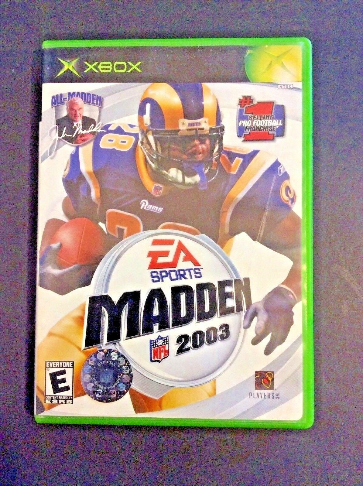 Madden Xbox NFL 2003 EA Sport Video Game Football The Best Gets Better Microsoft