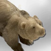 Handmade Bone Carved Full Standing Bear Body No Paint Detailed Table Fetish image 5