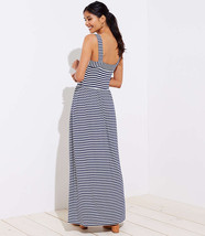 NWT LOFT Petite Striped Strappy Maxi Dress - Forever Navy - Size XX Small P - $745,33 MXN