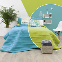 Turquoise and Green Reversible Ultra Slim Comforter Set by Vianney - £31.88 GBP+