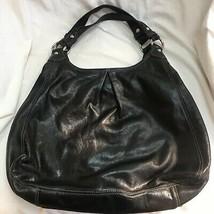 Coach Black Leather Maggie Large Shoulder Satchel Hobo Handbag C0993-130... - $98.99