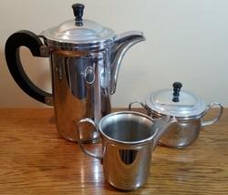 3 Piece Coffee / Tea Pot Cream Pitcher & Sugar Caddy Set - $13.08