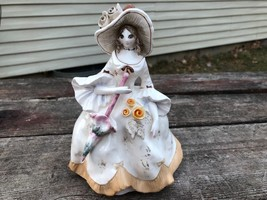 Schmid Yamada Originals Earthenware Southern Belle Woman Figurine Ltd. E... - $19.75