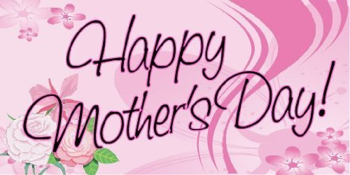 3x6 Vinyl Banner - Mothers Day Pink