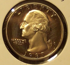 1987-S DCAM Clad Proof Washington Quarter PF65DC #432 - $3.19