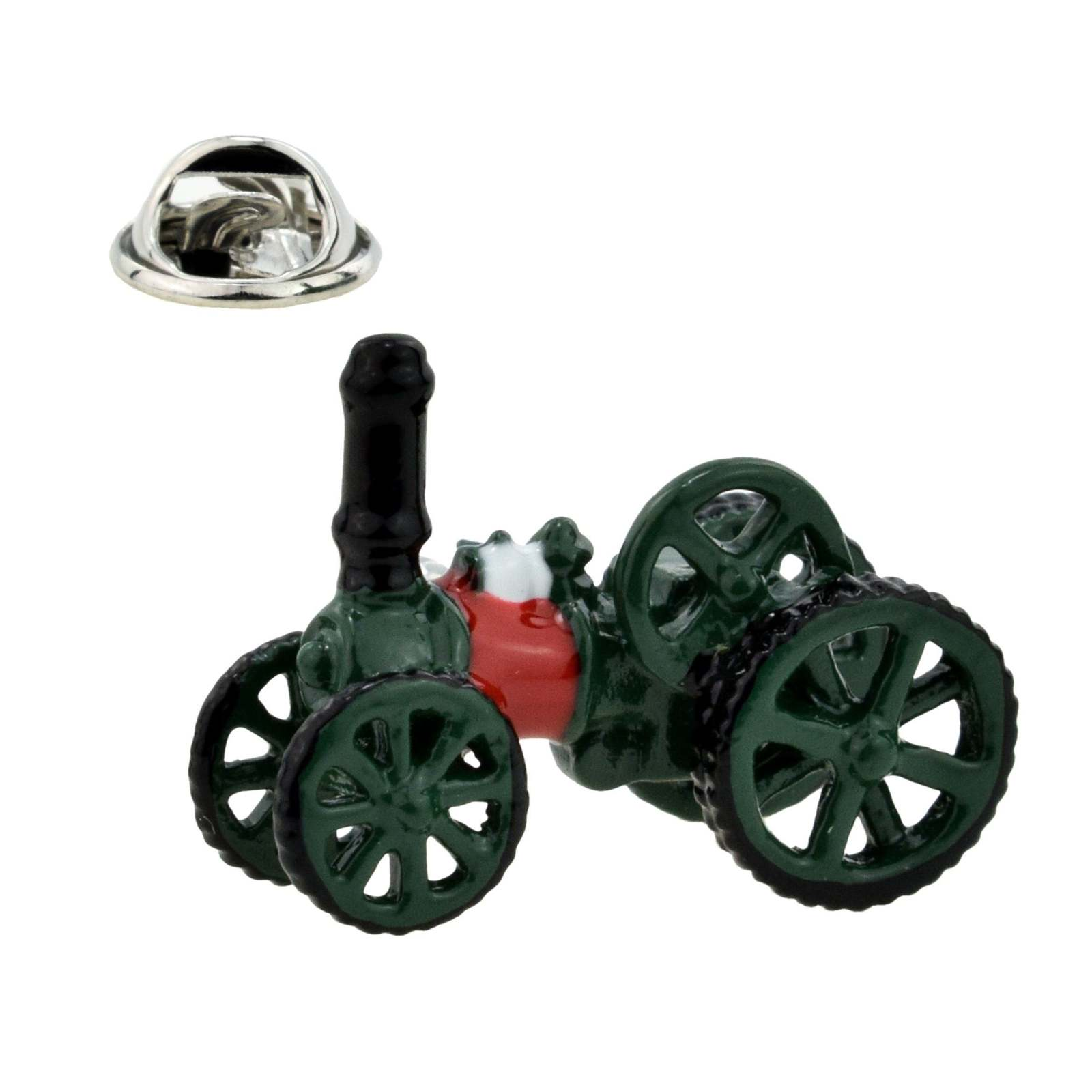 3d Steam Traction Engine Design  Lapel Pin Badge Lapel /tie Pin Badge  with clip