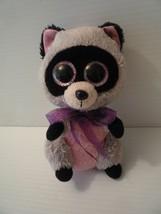 "Ty Beanie Boos Rocco The Raccoon 6"" Animal Toy Glitter Eyes 2014 - $5.00"